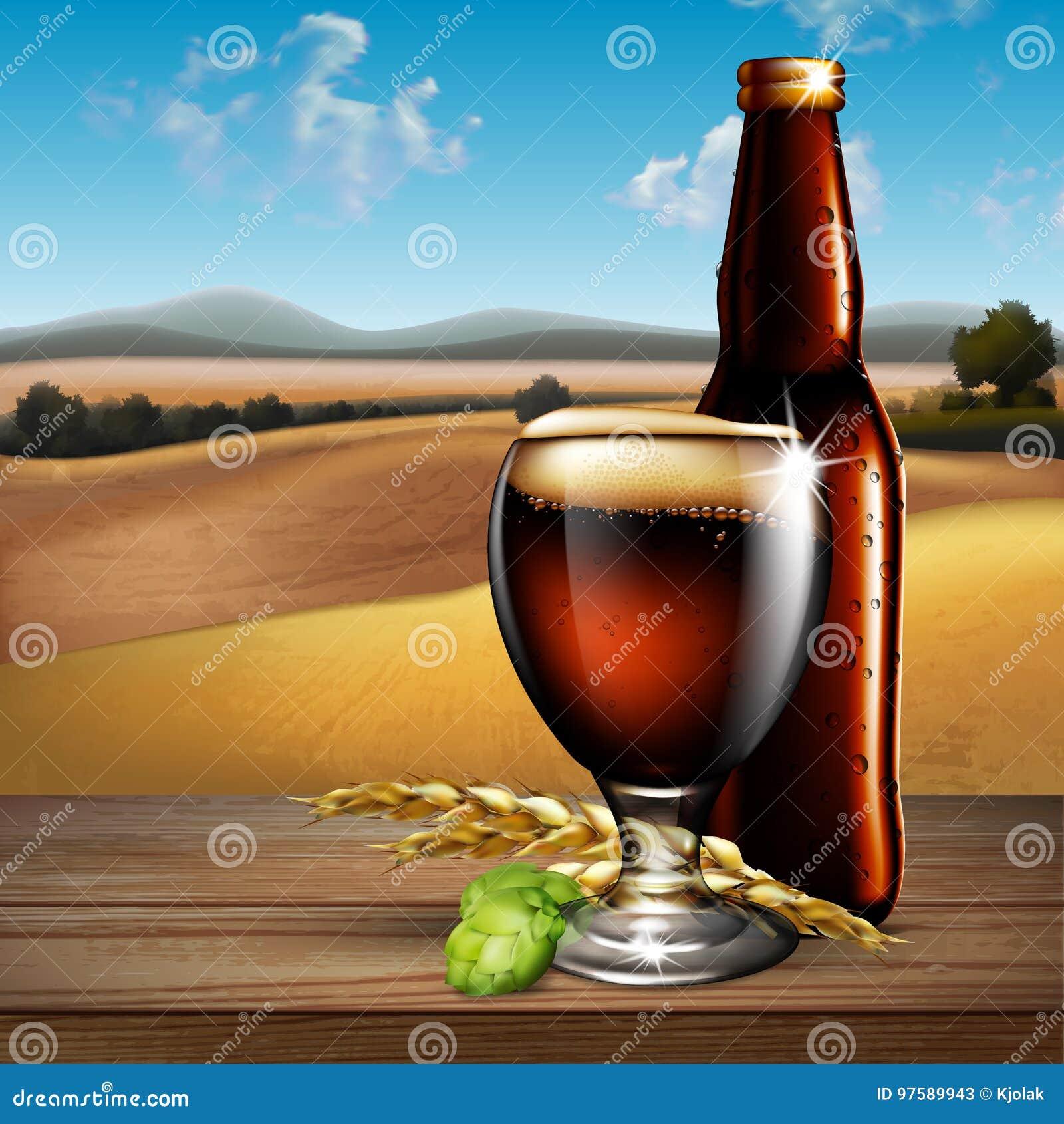 Effet De La Biere fond de bière illustration fortement réaliste avec l'effet