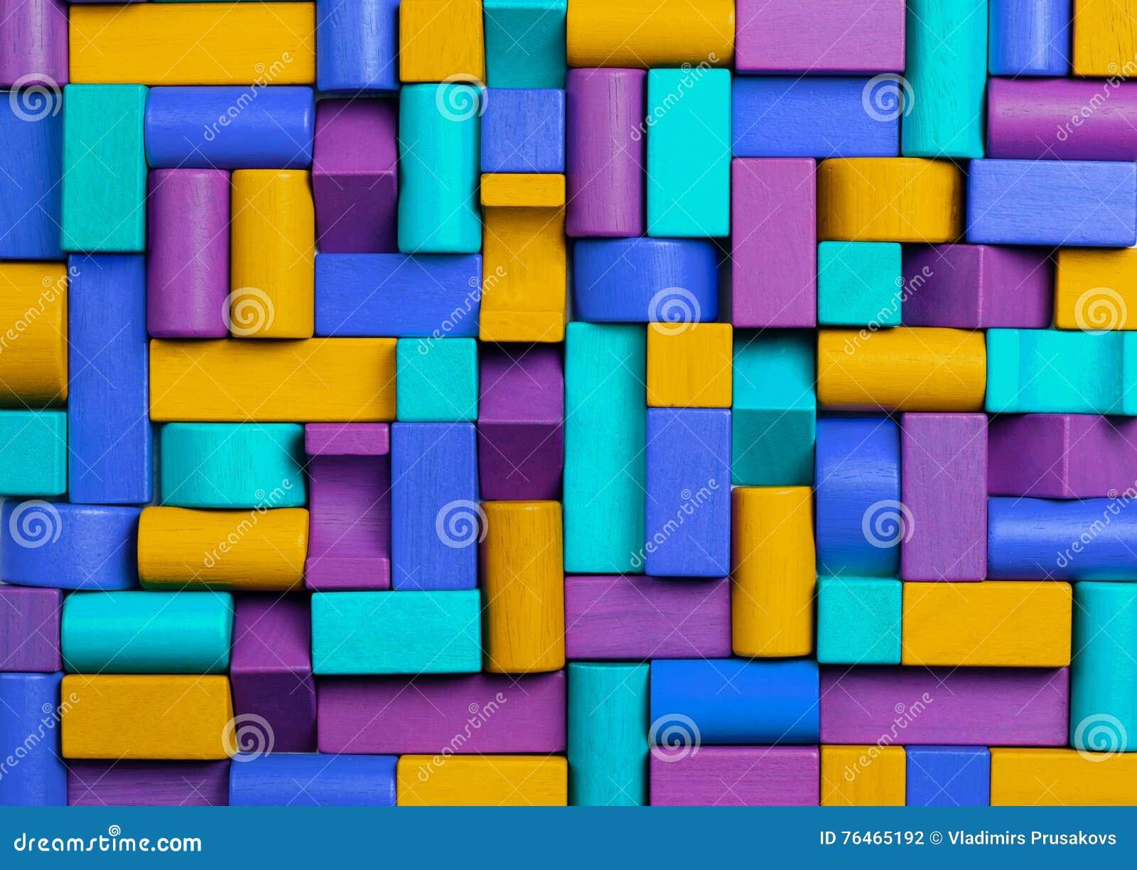 Fond de blocs de jouets, mosaïque abstraite de jouet multicolore d enfants
