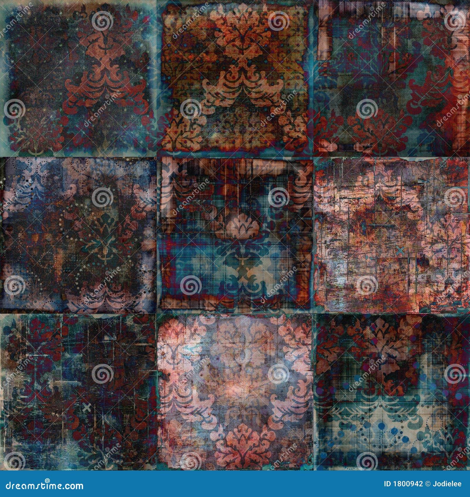 Fond de Bohème grunge floral d album à tapisserie de cru