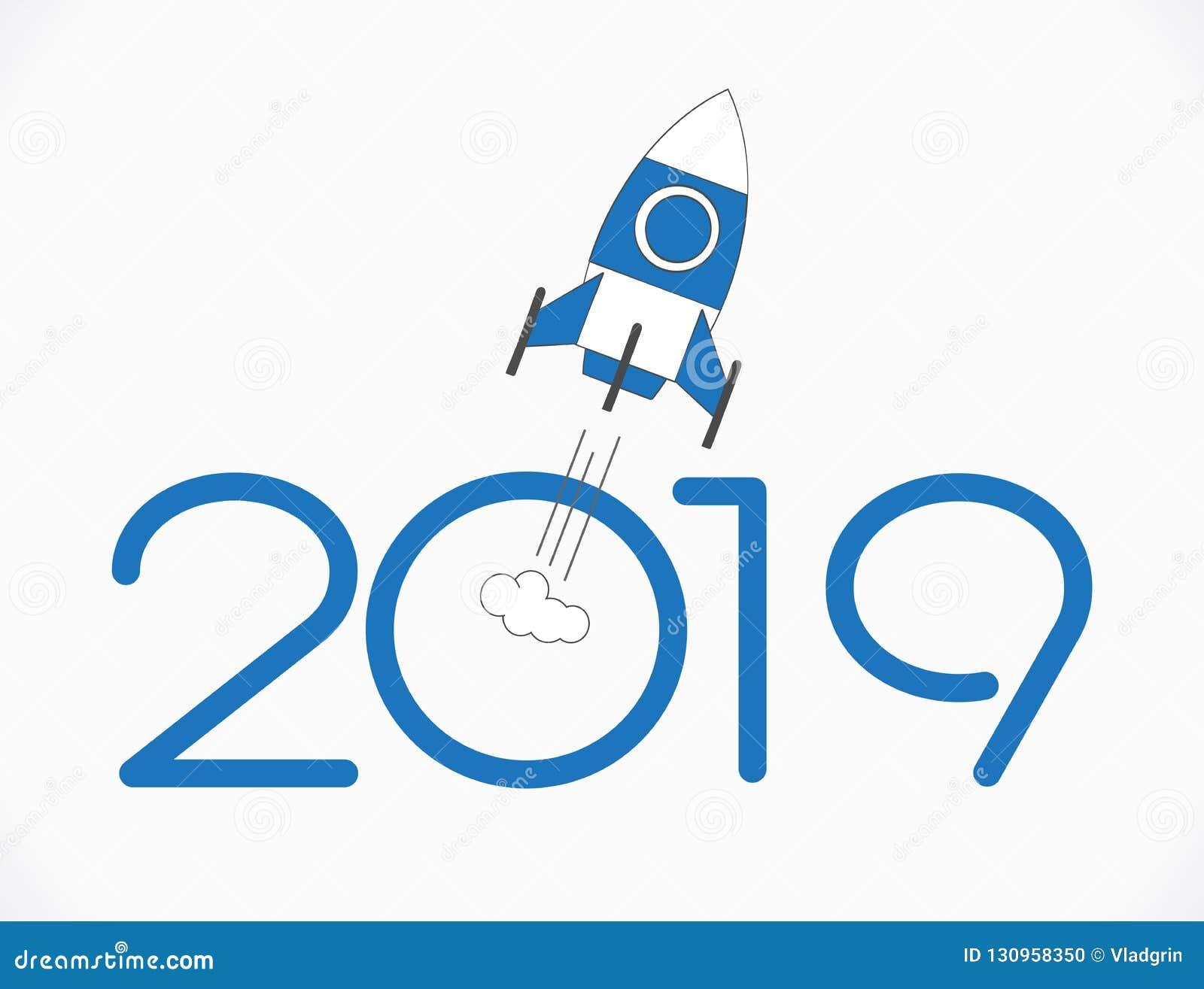 Fond de 2019 bonnes années