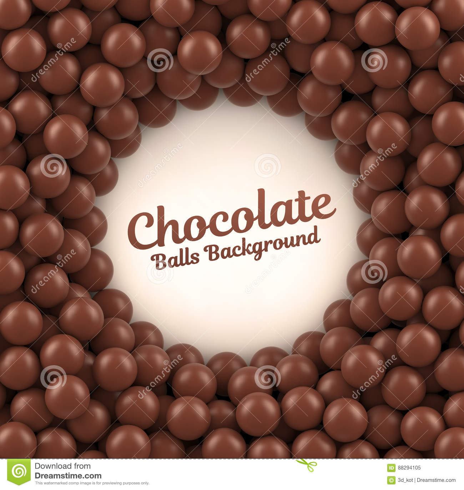 Fond De Boules De Chocolat Avec L Endroit Pour Votre Contenu Illustration De Vecteur Illustration Du Contenu Endroit 88294105