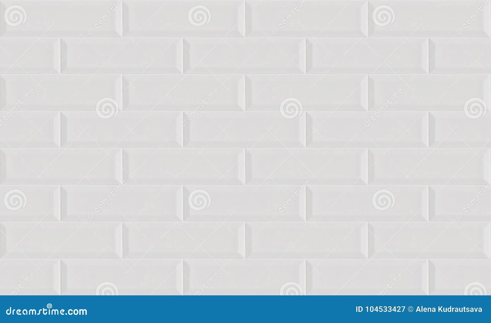 Carrelage Metro Sans Joint fond de briques de céramique blanc de mur de tuile image
