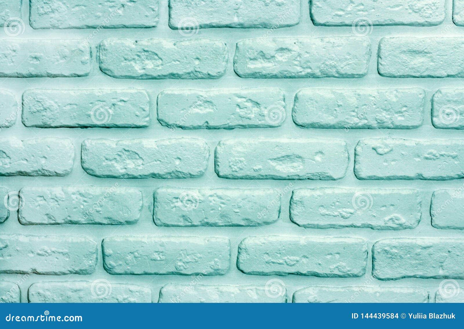Fond de briques de turquoise Texture à la mode moderne