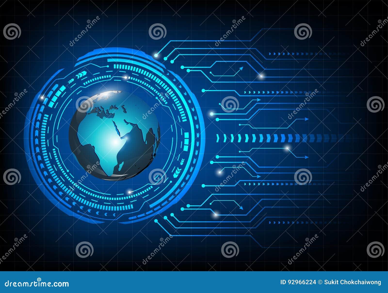 Fond de carte Concept global de gestion de réseau