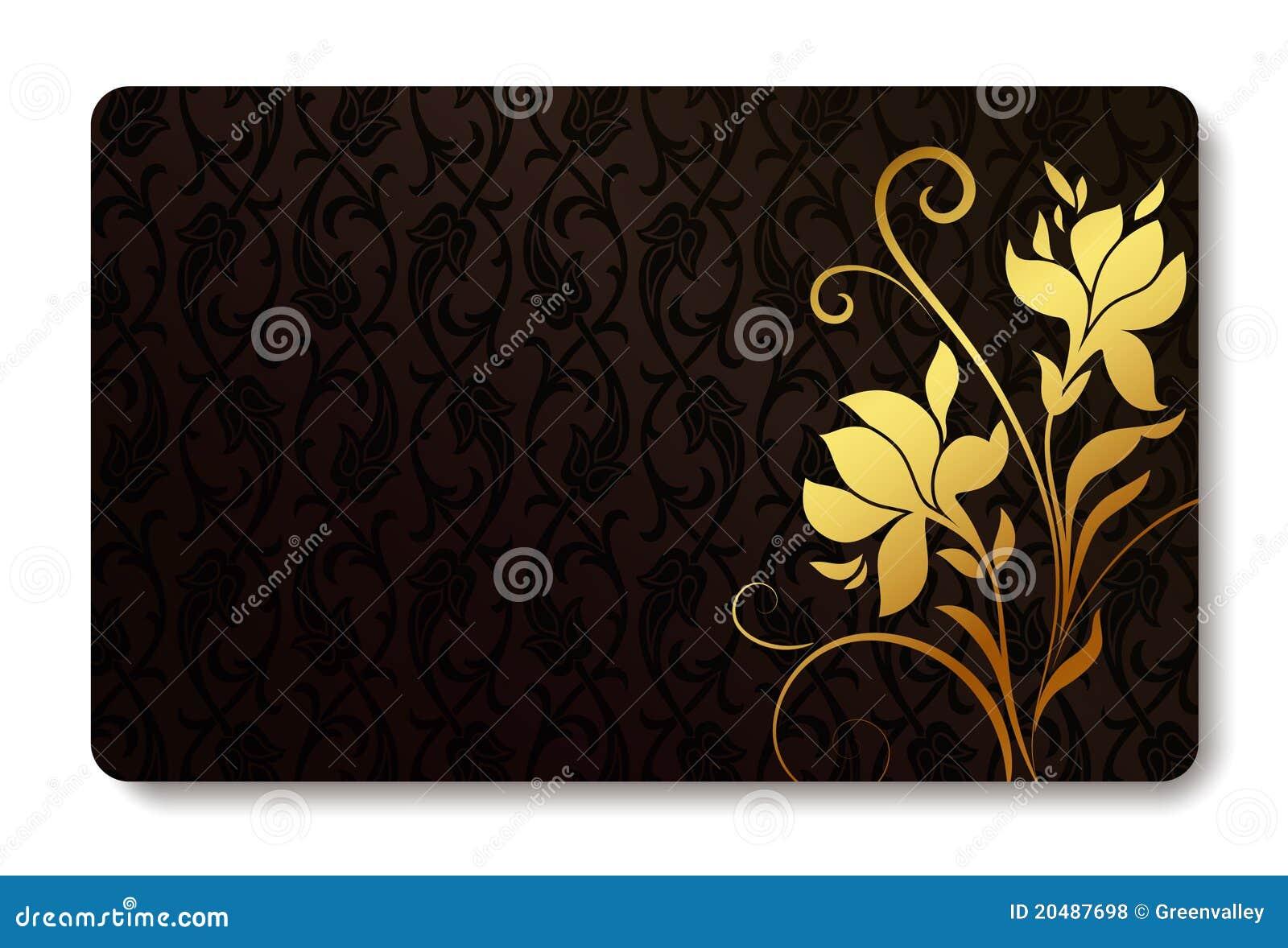 Conception De Fond Par La Carte Credit Visite Professionnelle Taille Normale Avec Une Fleur Tiree Main Et Place Pour Le