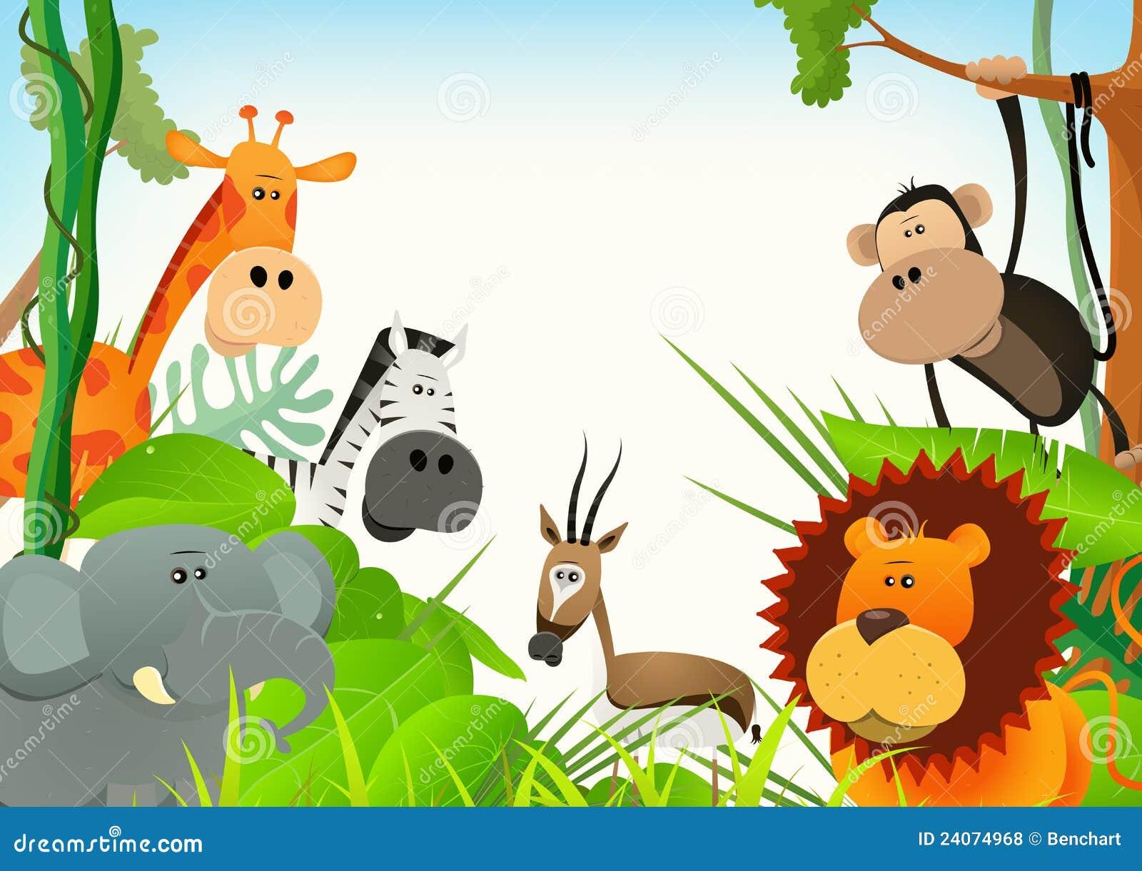 Fond de carte postale d 39 animaux sauvages illustration de - Images d animaux sauvages gratuites ...