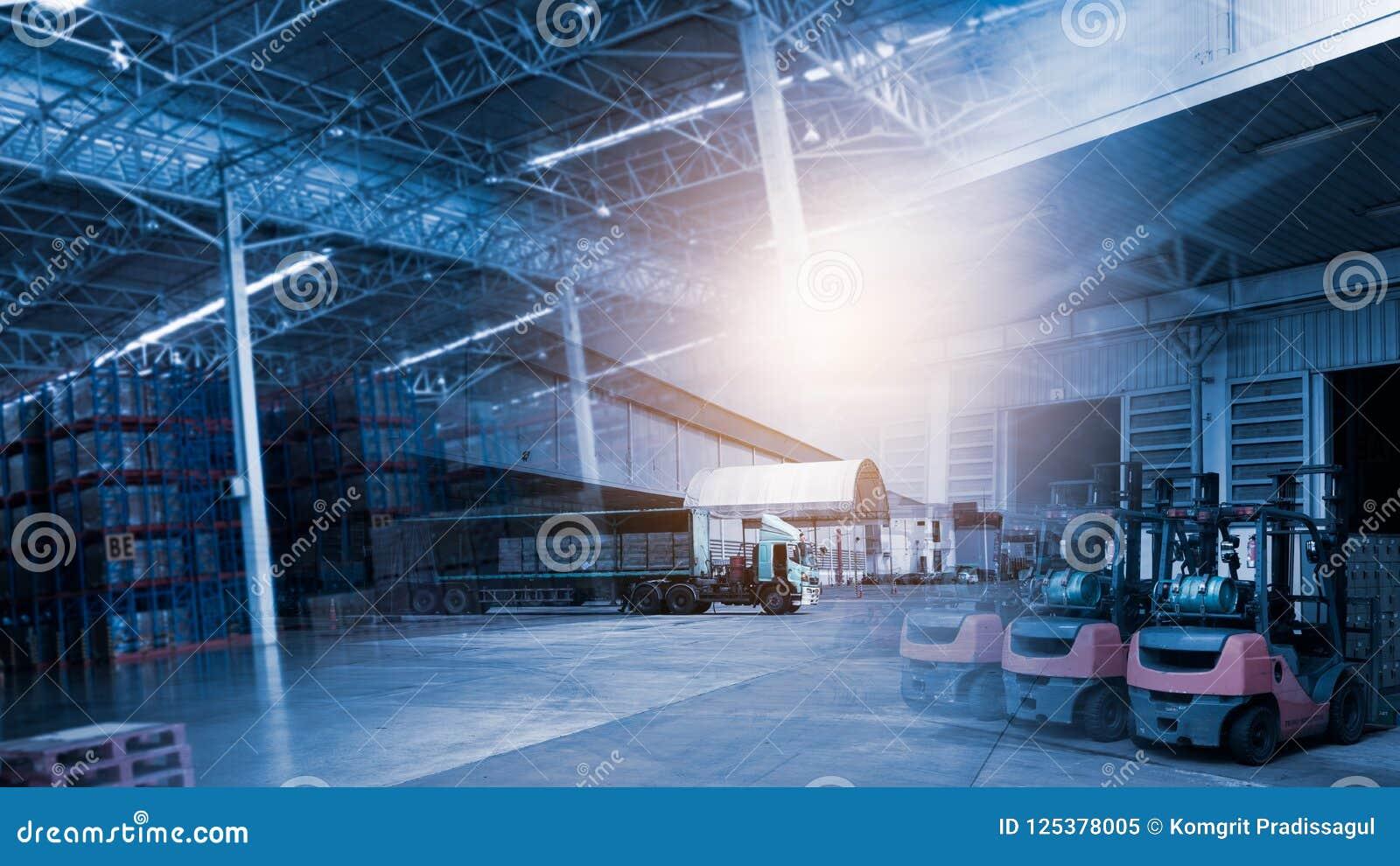 Fond de chaîne d approvisionnements de transport et de logistique