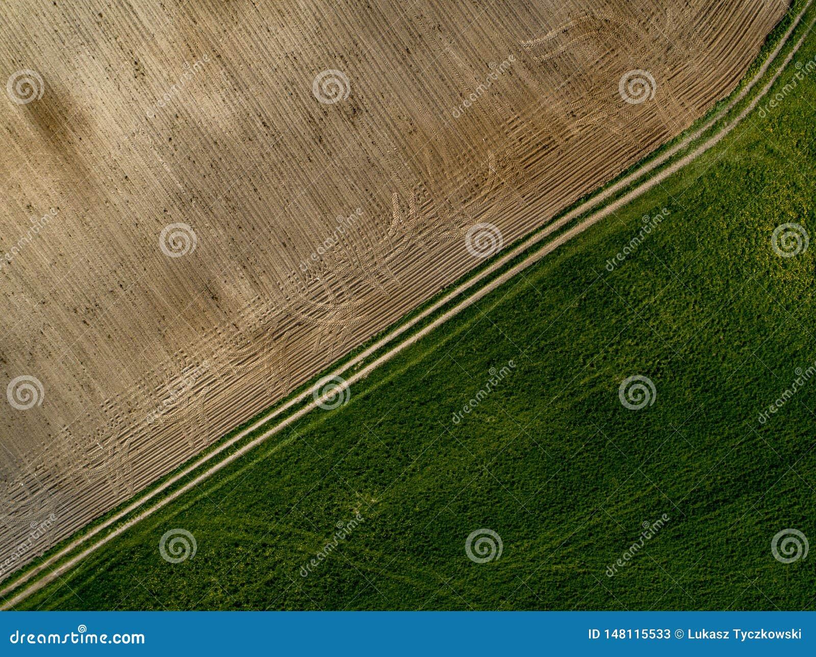 Fond de champs - vue d en haut