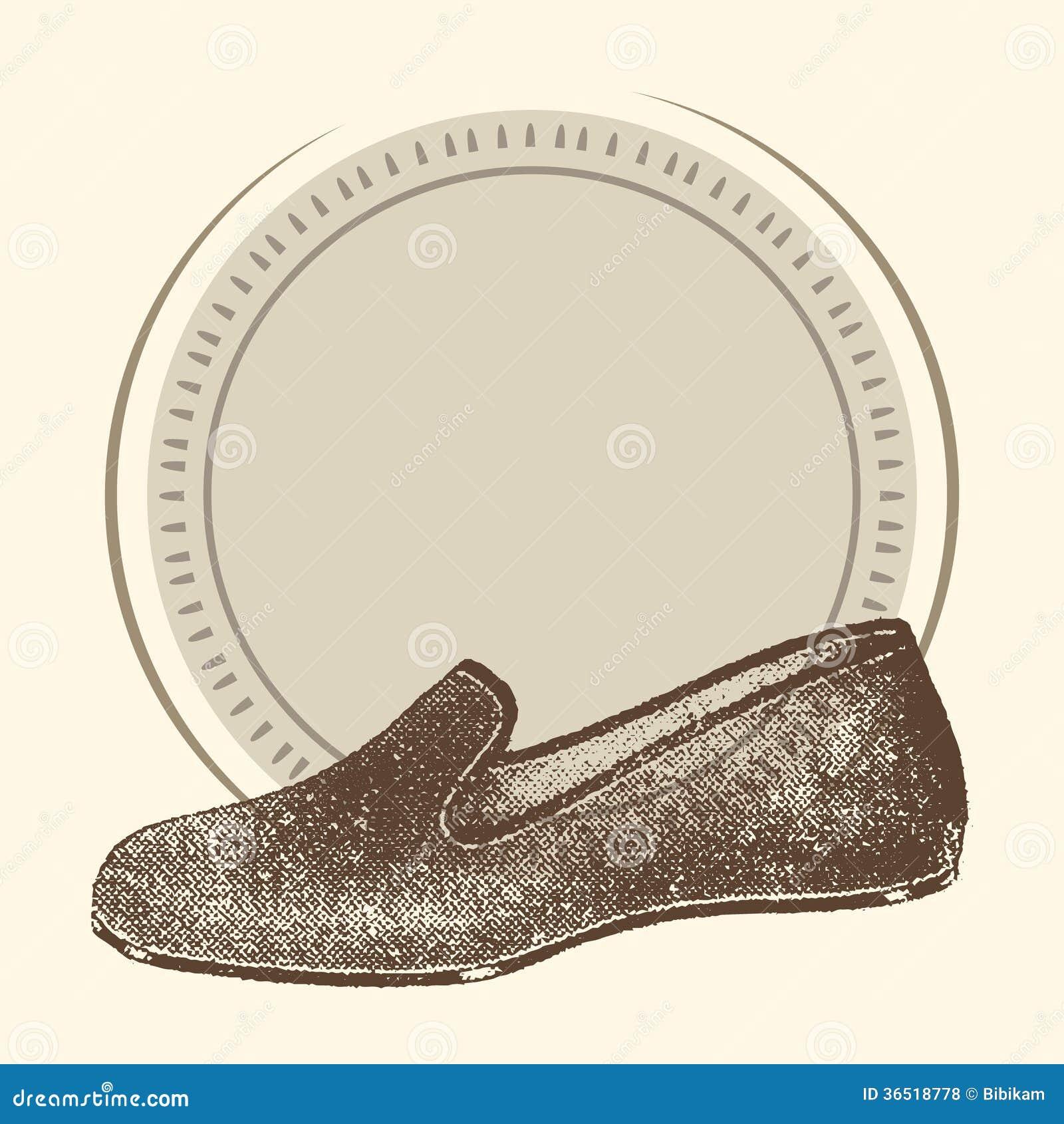 Fond de chaussure d illustration
