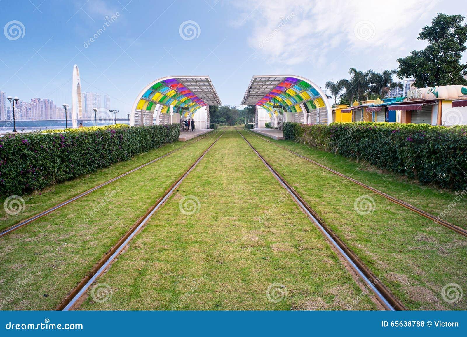 Fond de chemin de fer