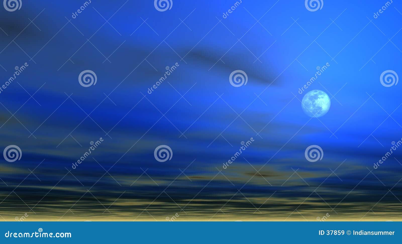 Fond de ciel avec la lune [4]