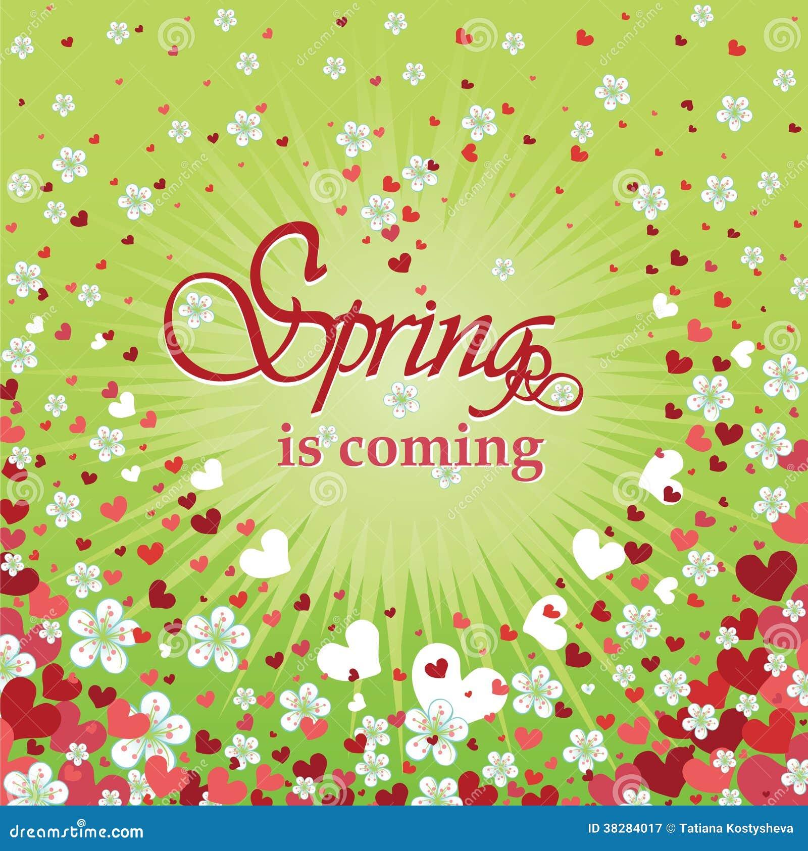 Fond de coeur avec des fleurs printemps illustration de - Coeur avec des photos ...