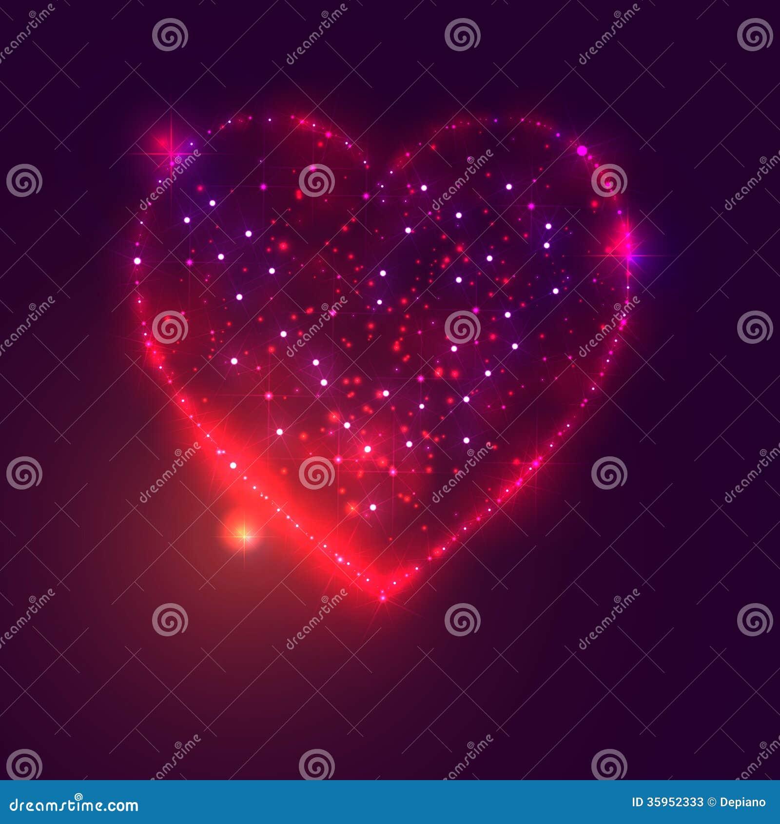 Fond De Coeur D Amour De Belles Etoiles Lumineuses Illustration De Vecteur Illustration Du Belles Etoiles 35952333