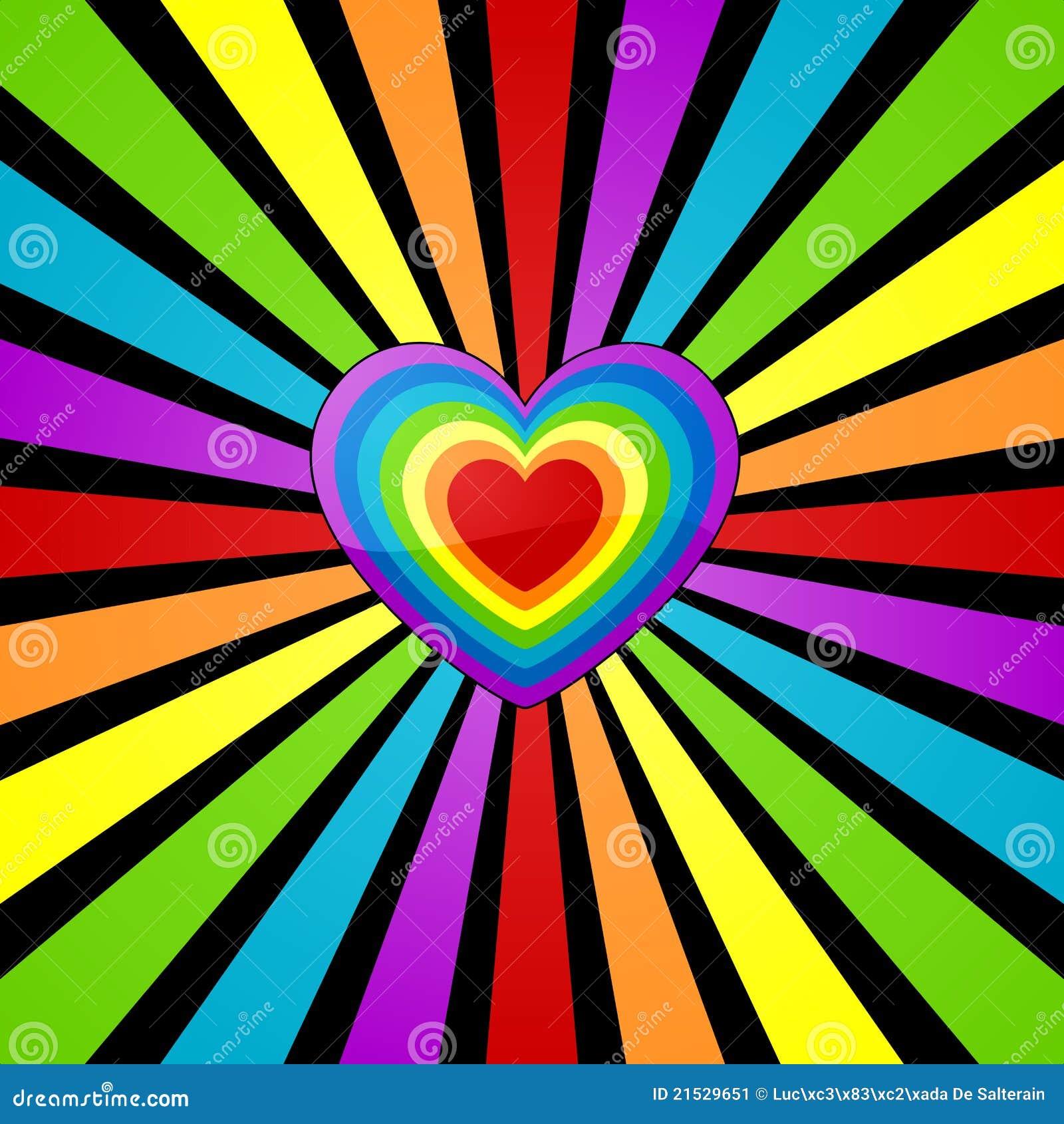Fond de coeur d 39 arc en ciel illustration de vecteur - Image arc en ciel gratuite ...