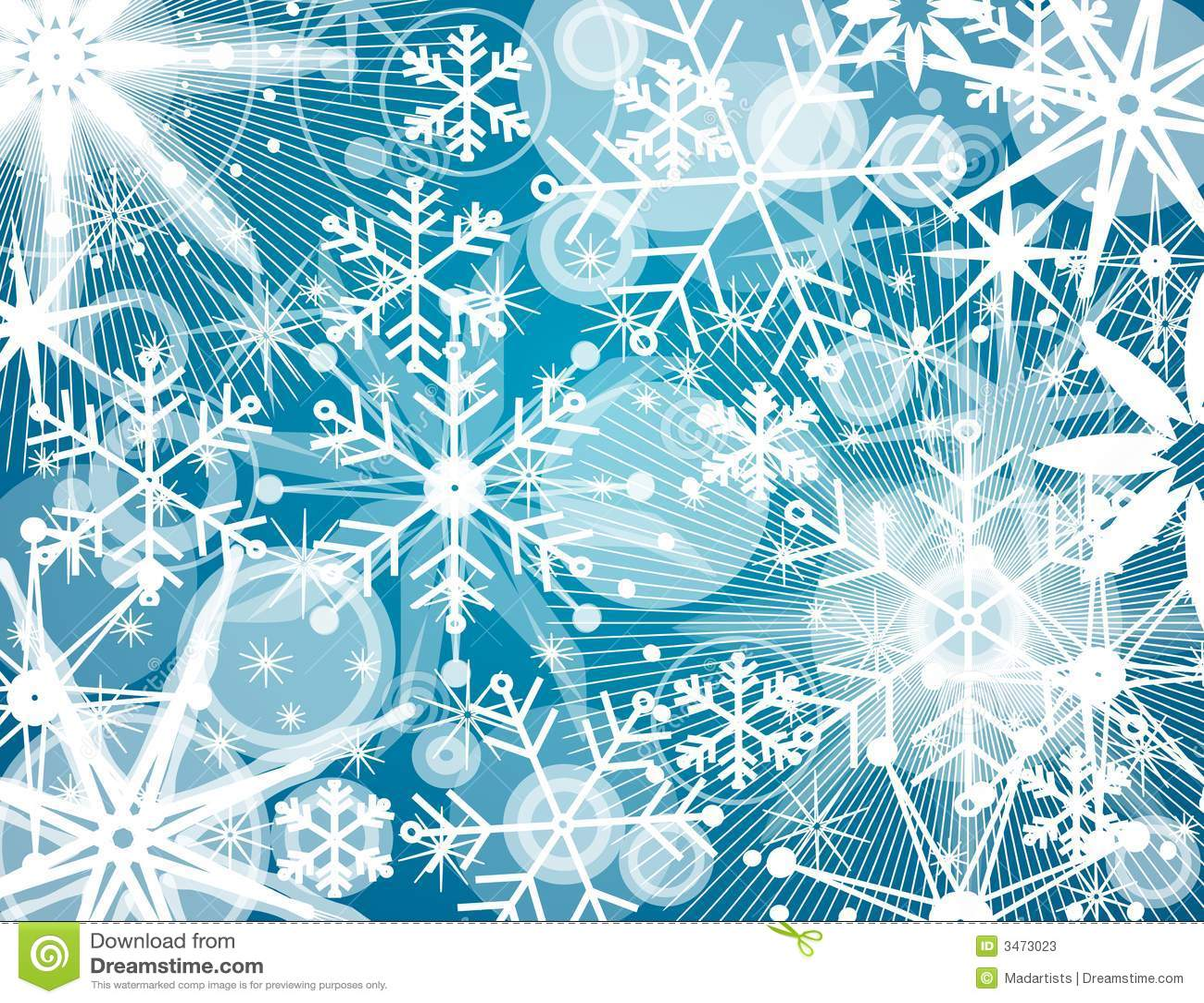 Fond de collage de flocon de neige
