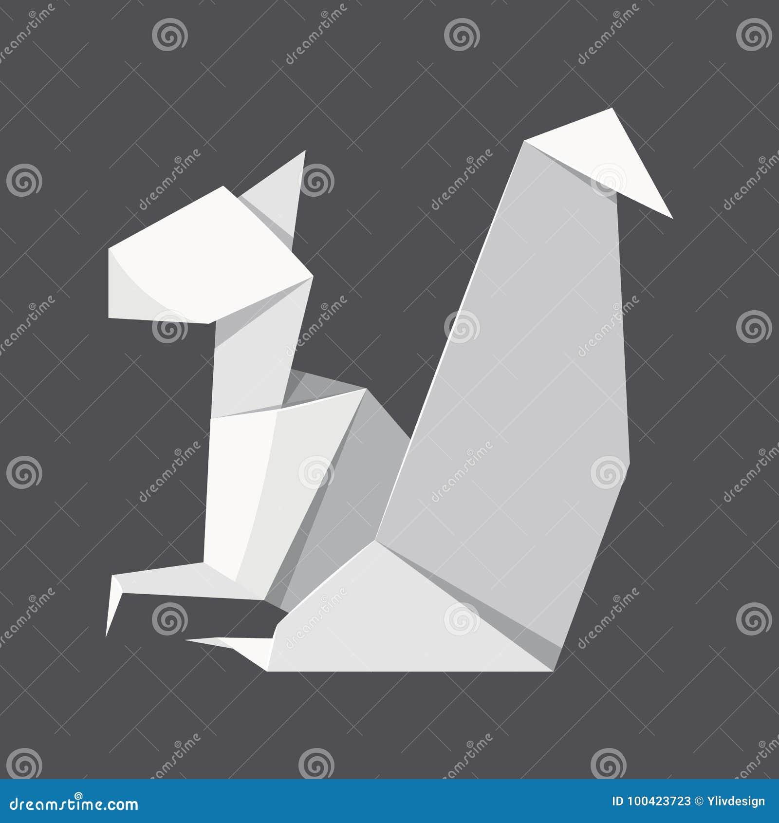 Fond De Concept D Ecureuil D Origami Style Realiste Illustration De