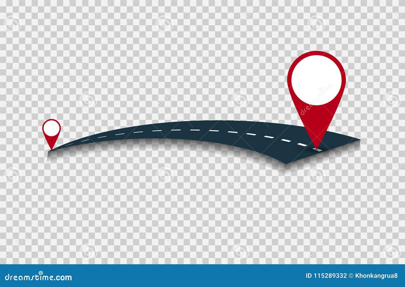 Fond de concept de voyage du monde, voyage par la route autour du monde sur transparent blanc Illustration de vecteur