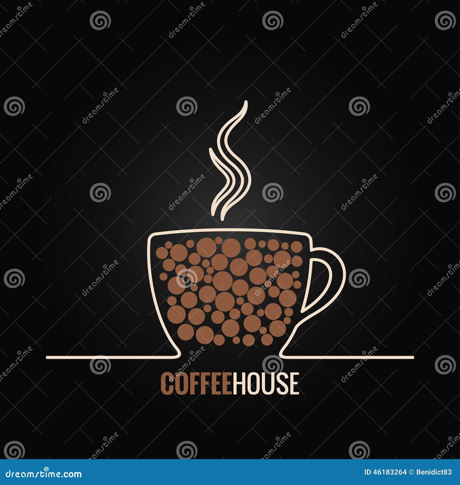 Fond de conception de menu de tasse de café