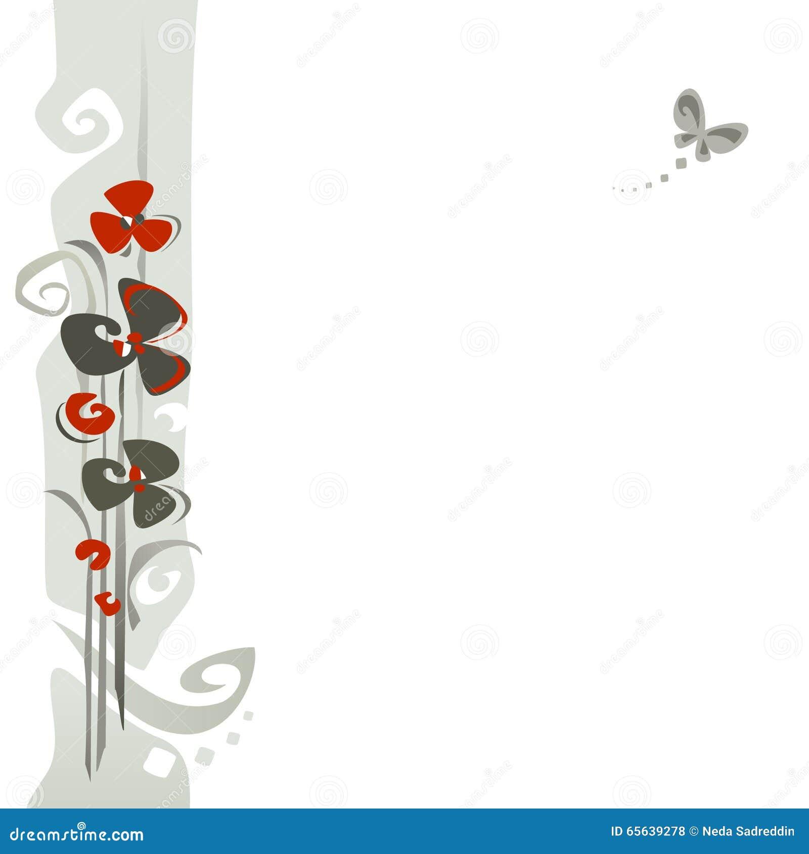 Fond de conception florale?, contexte, conception de l illustration