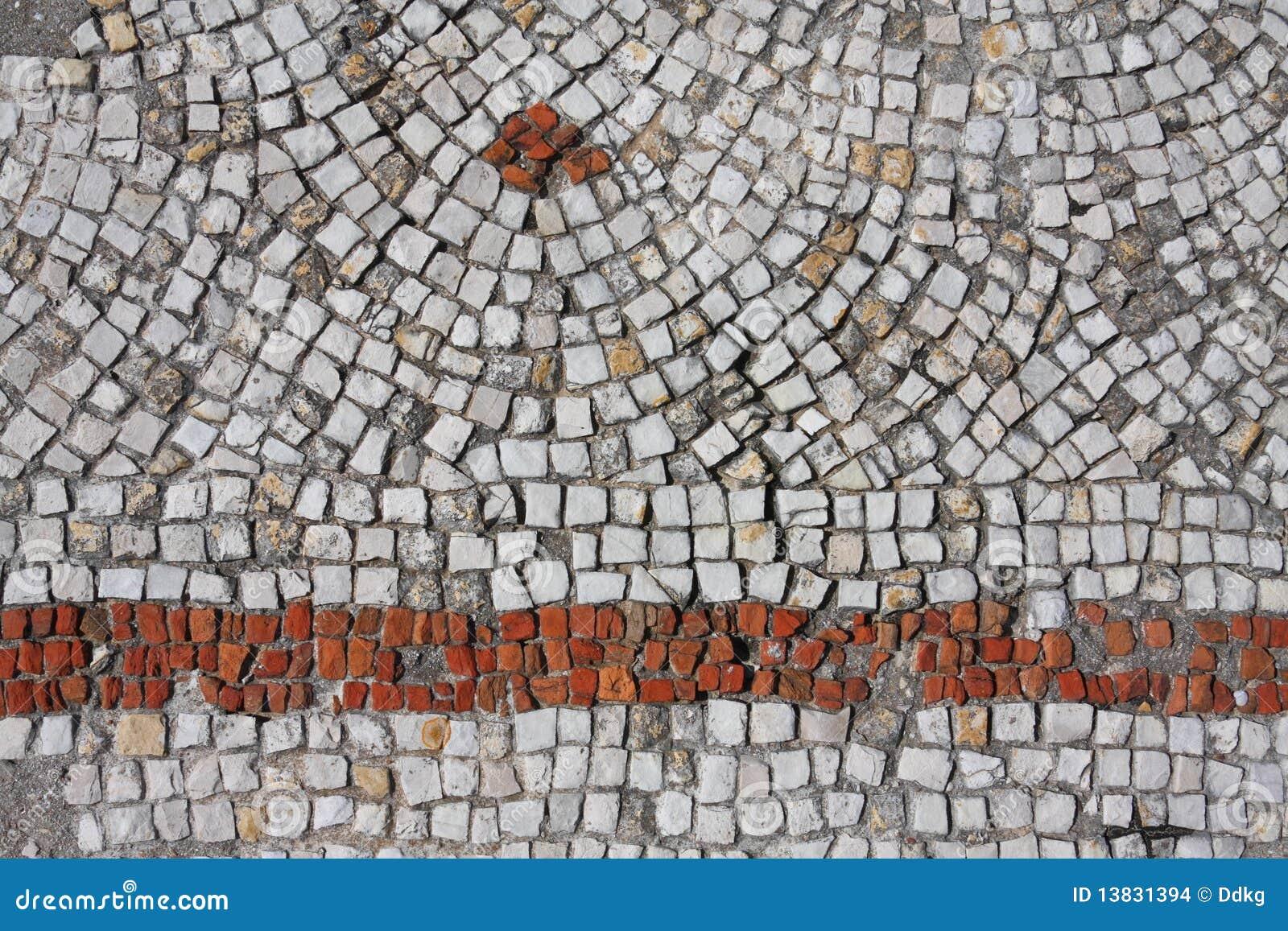 Fond de configuration de mosaïque, pneu - Liban