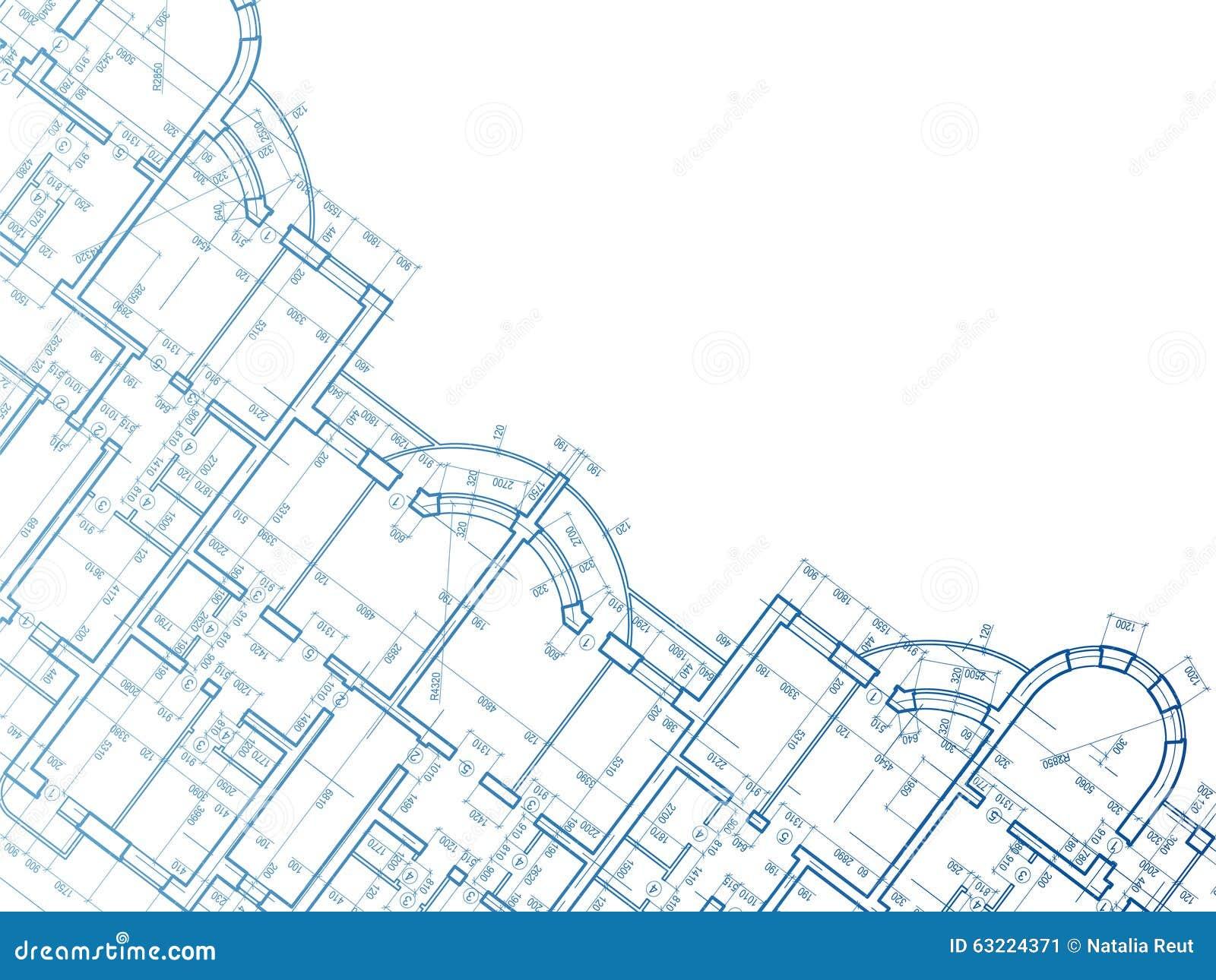 Fond de construction plan de la maison illustration stock for Photos du plan de construction