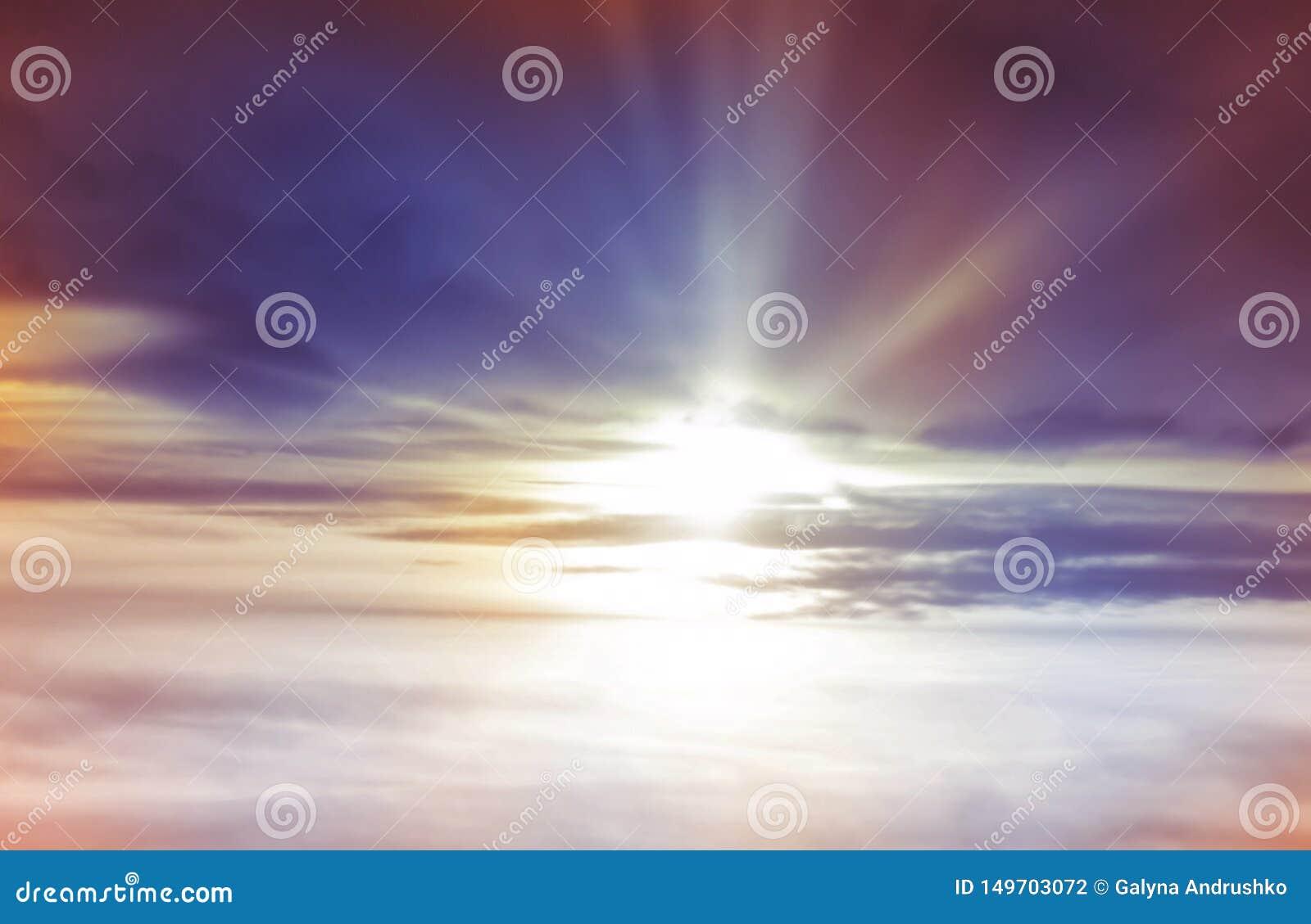 Fond de coucher du soleil