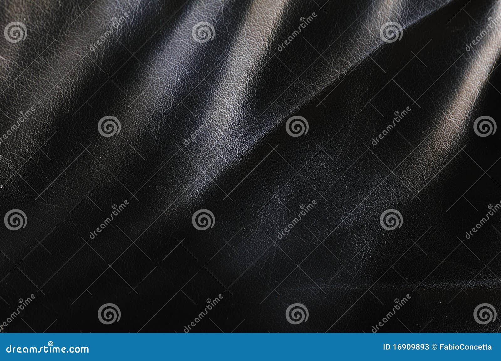 Fond de cuir noir