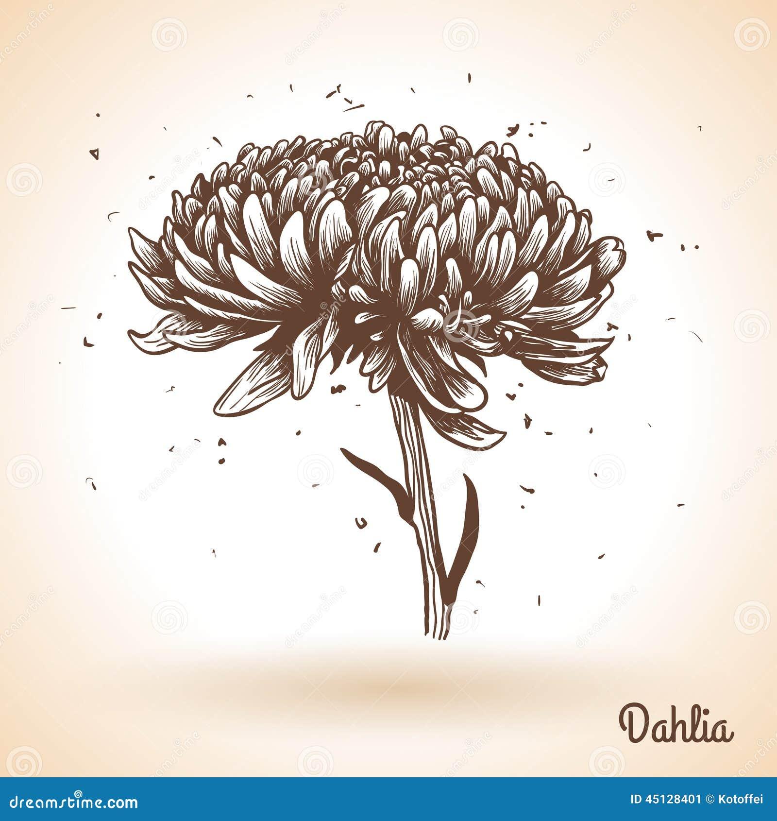 fond de dessin de main de vintage avec des fleurs illustration de