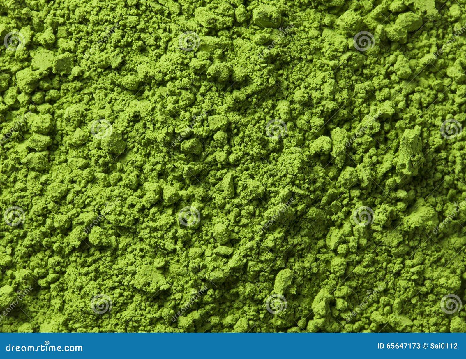 Fond de fin verte de surface de poudre vers le haut de macro tir