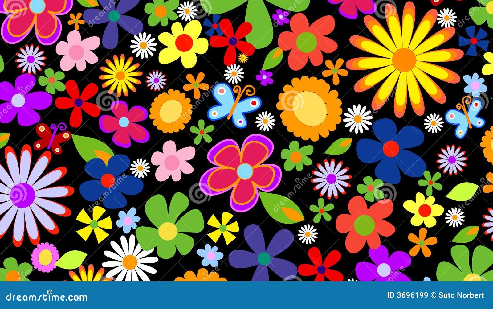 Fond de fleur de source