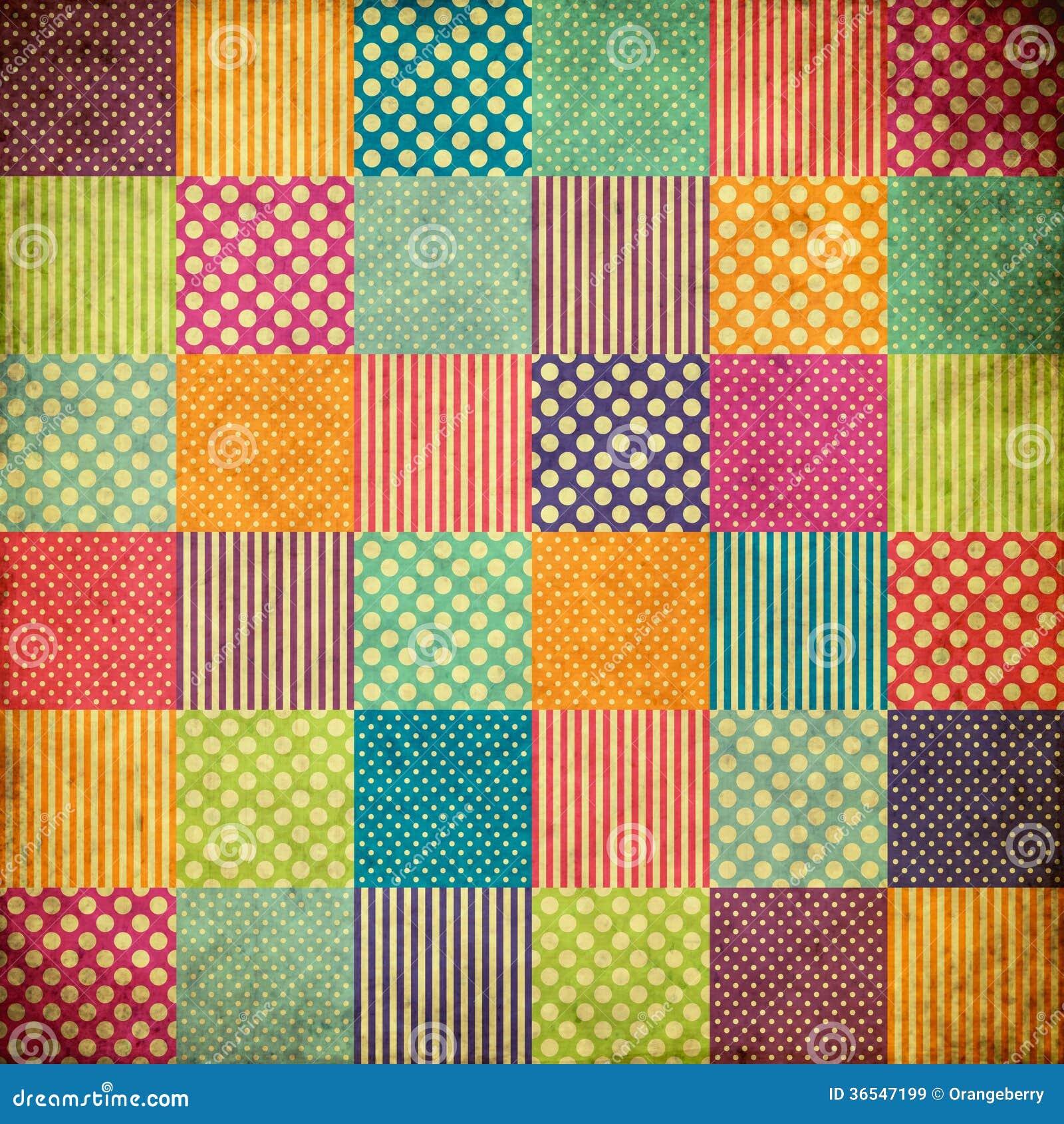 Fond de grunge de patchwork