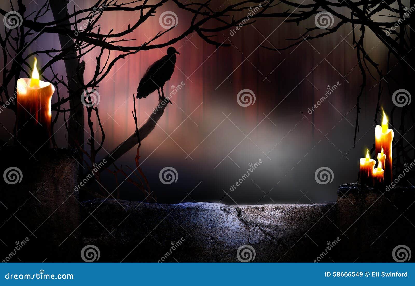 Fond de Halloween avec le vautour