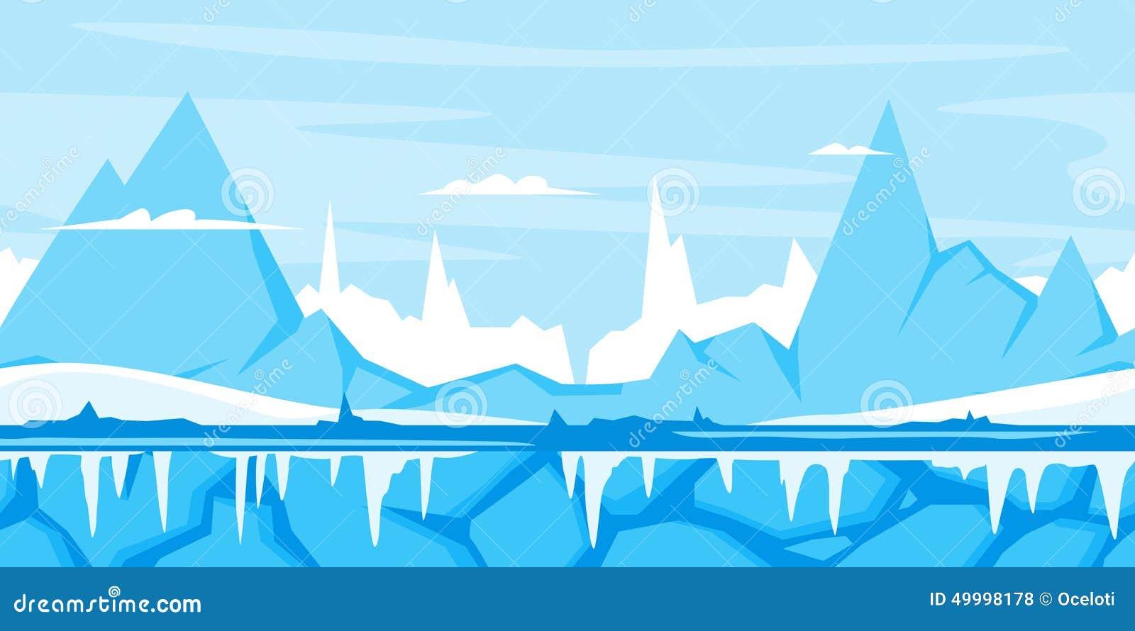 Fond de jeu de montagne d hiver