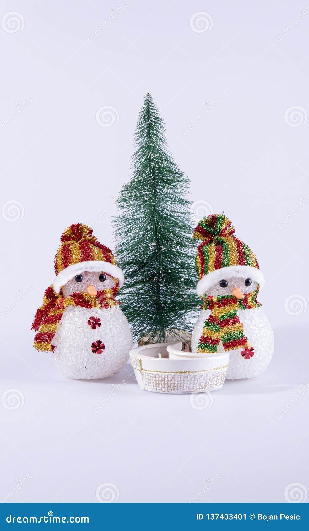 Fond de jouet de bonhomme de neige