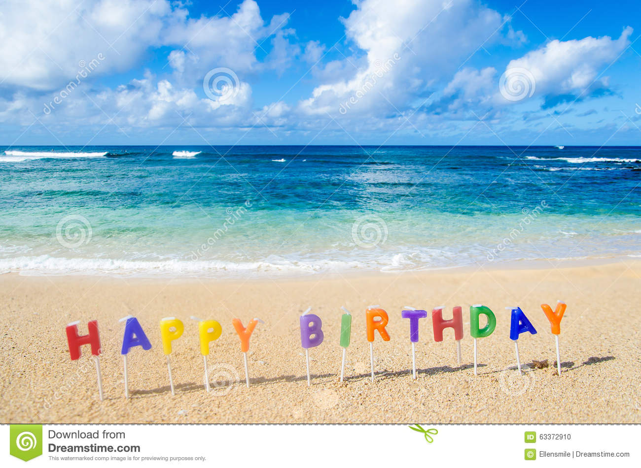 Fond De Joyeux Anniversaire Photo Stock Image Du Hawaien Tropical