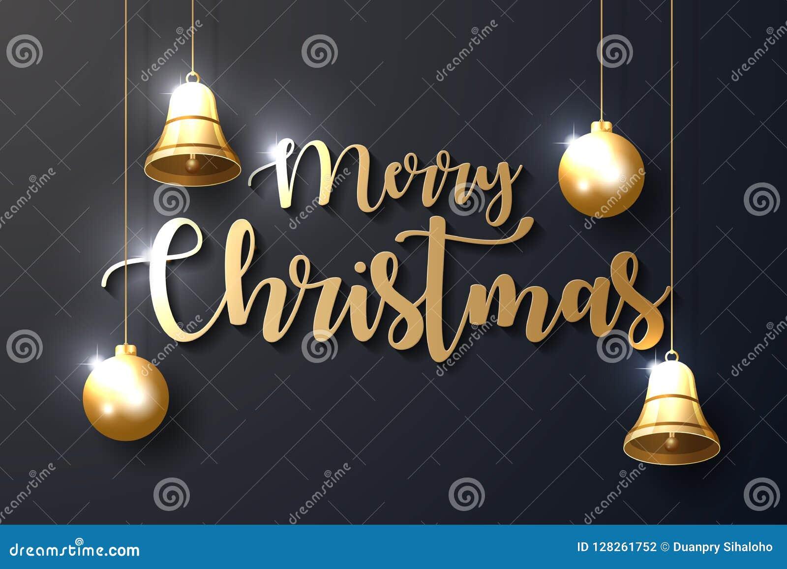 Fond de Joyeux Noël avec les ornements brillants d or