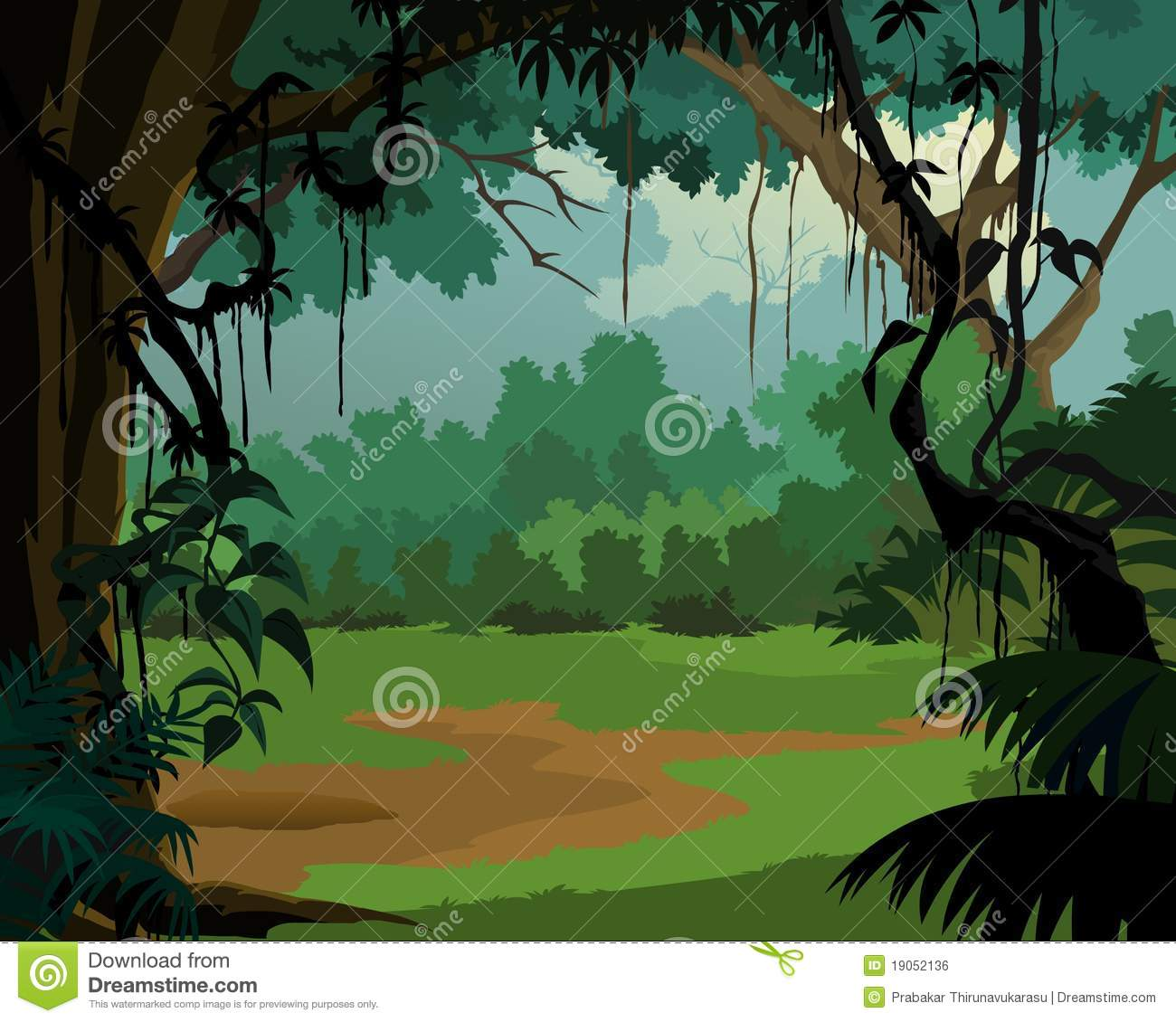 fond de jungle paysage plaisant illustration stock illustration du dense ville 19052136. Black Bedroom Furniture Sets. Home Design Ideas
