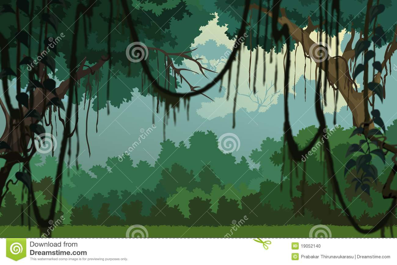 fond de jungle paysage plaisant illustration stock illustration du alarme corneille 19052140. Black Bedroom Furniture Sets. Home Design Ideas