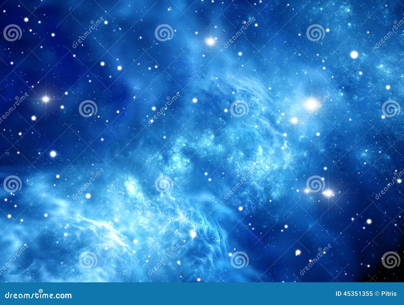 Download Fond De L'espace Avec La Nébuleuse Et Les étoiles Illustration Stock - Illustration du noir, forme: 45351355