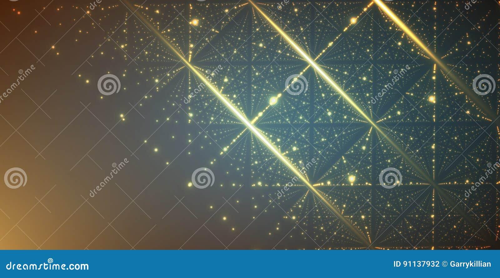Fond De L Espace Infini De Vecteur Matrix De Rougeoyer Se Tient Le