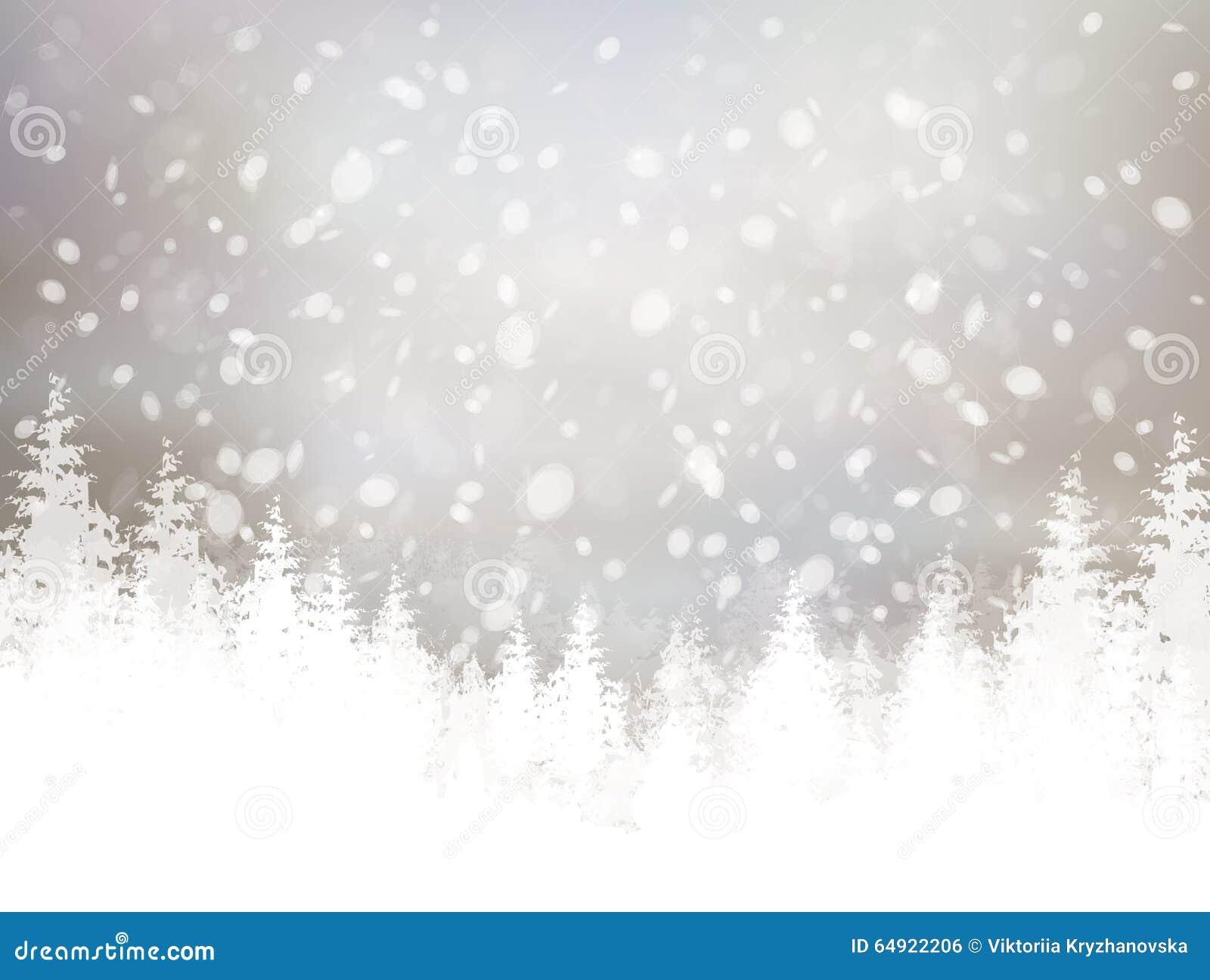 Fond de l hiver de vecteur