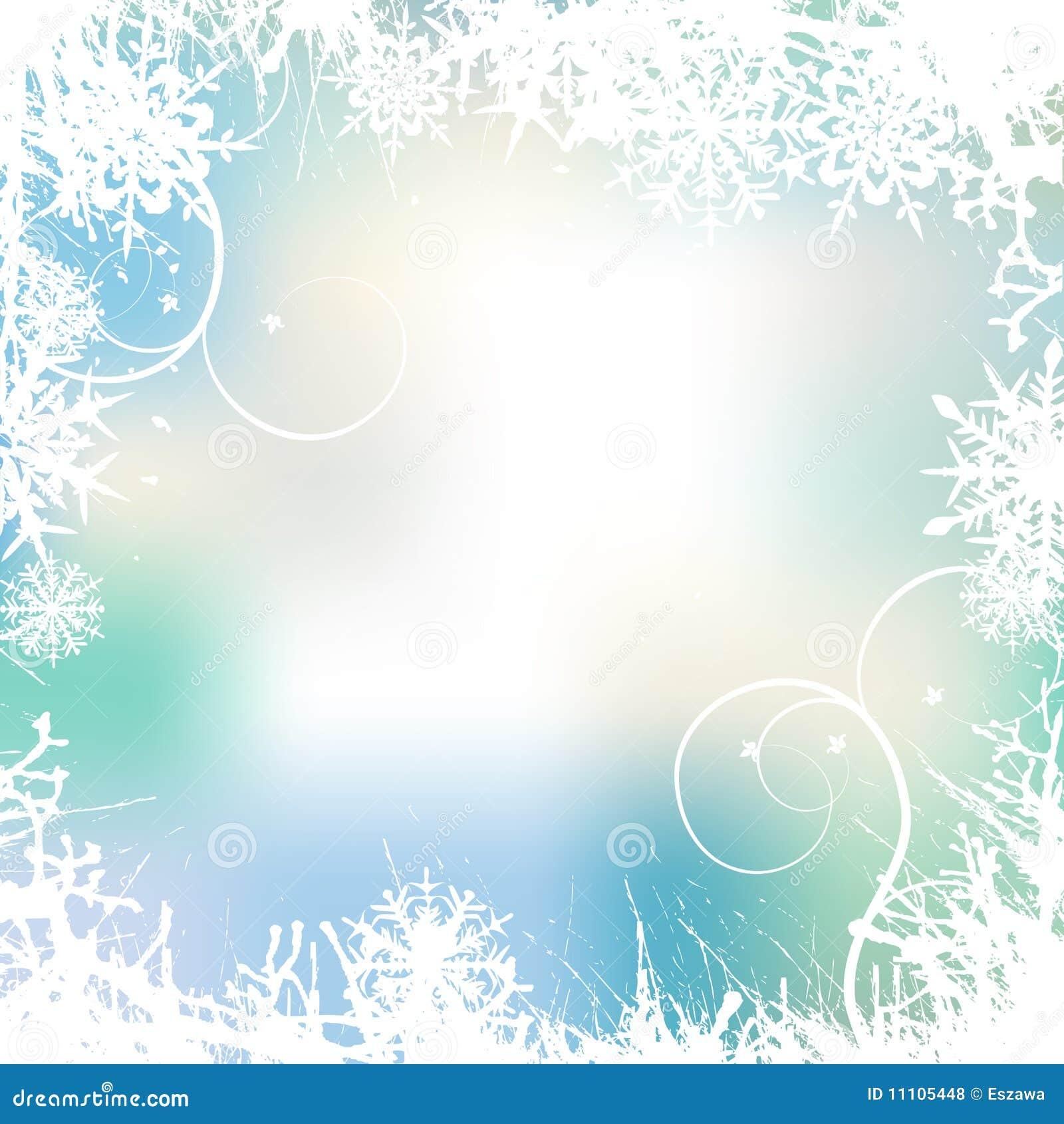 Fond de l hiver, flocons de neige
