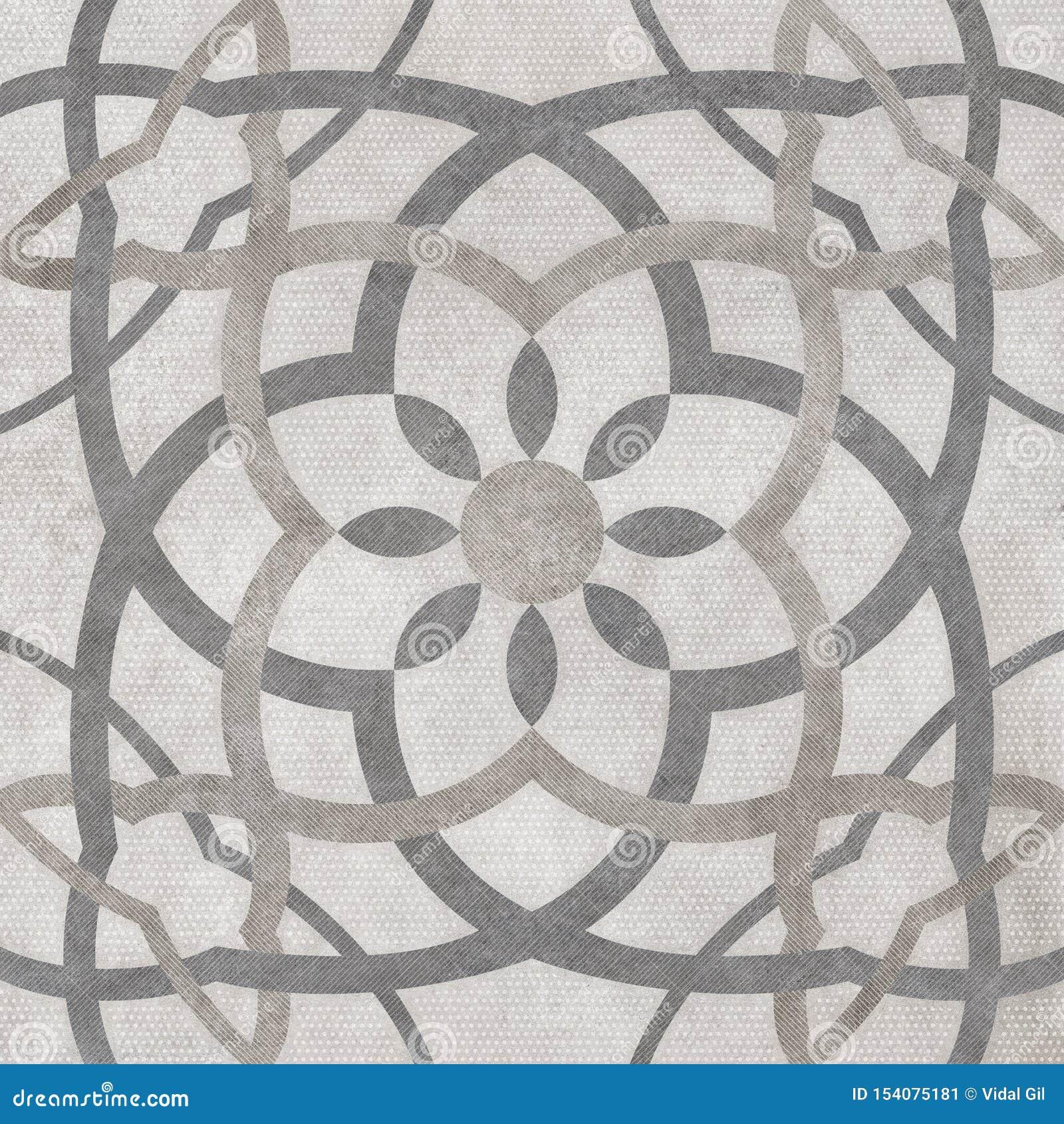 Fond de lumière de modèle d arabesque, conception numérique de carrelage