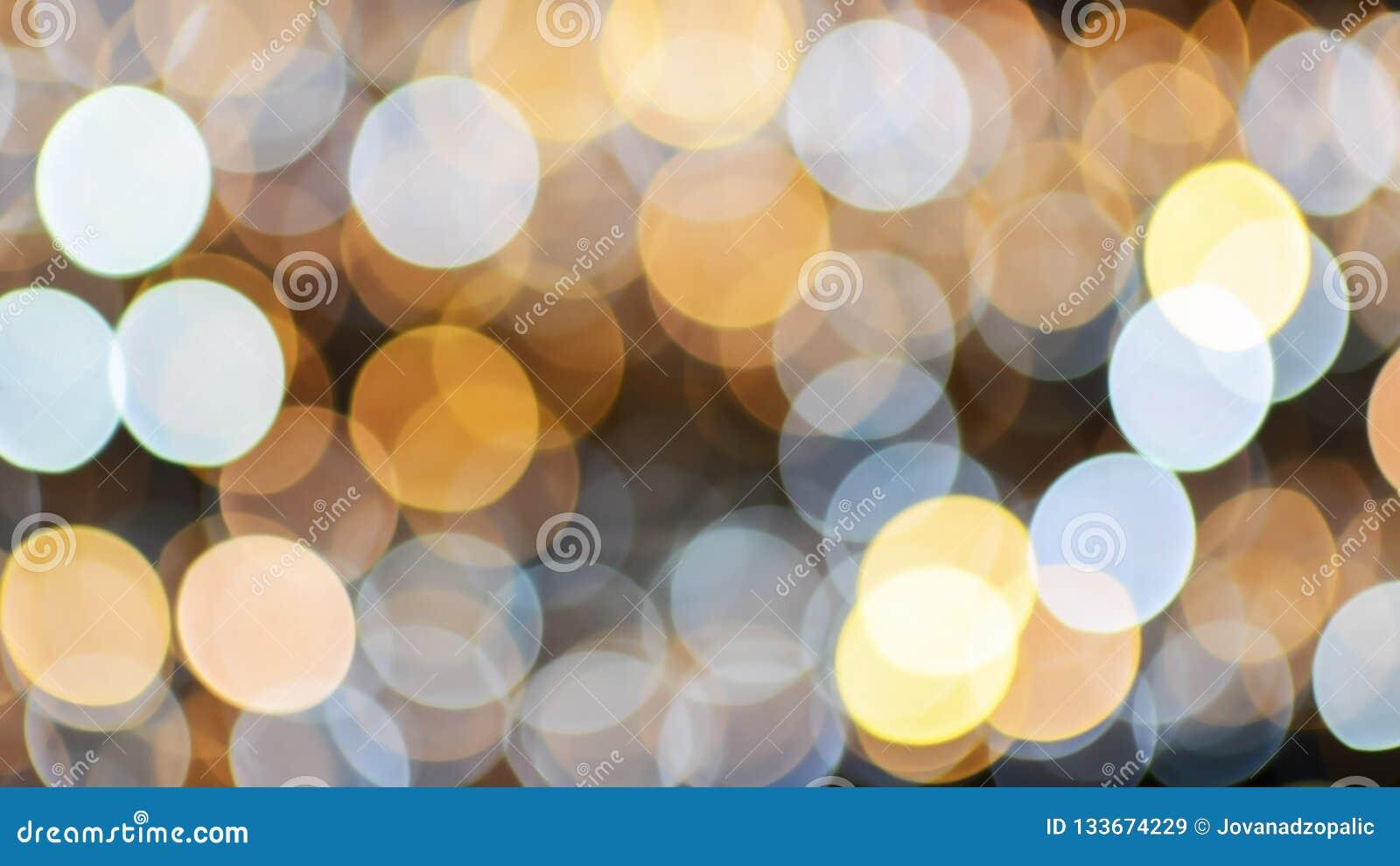 Fond de lumières de bokeh de Noël et de nouvelle année