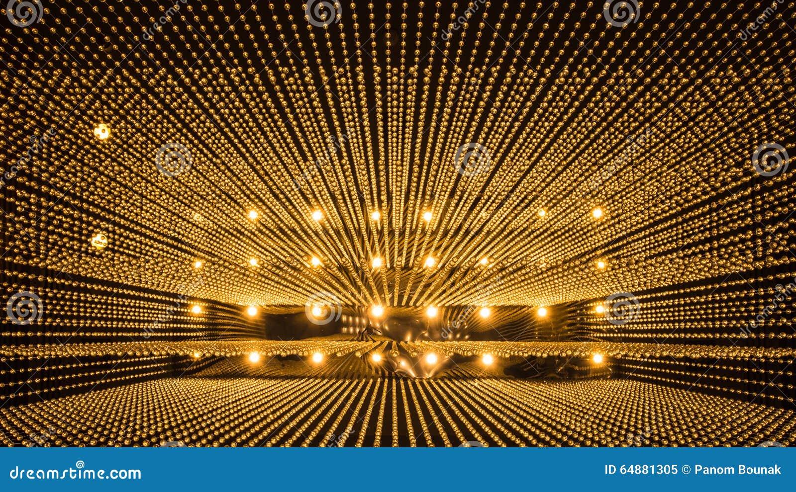 Fond de luxe de modèle de lumière de lustre