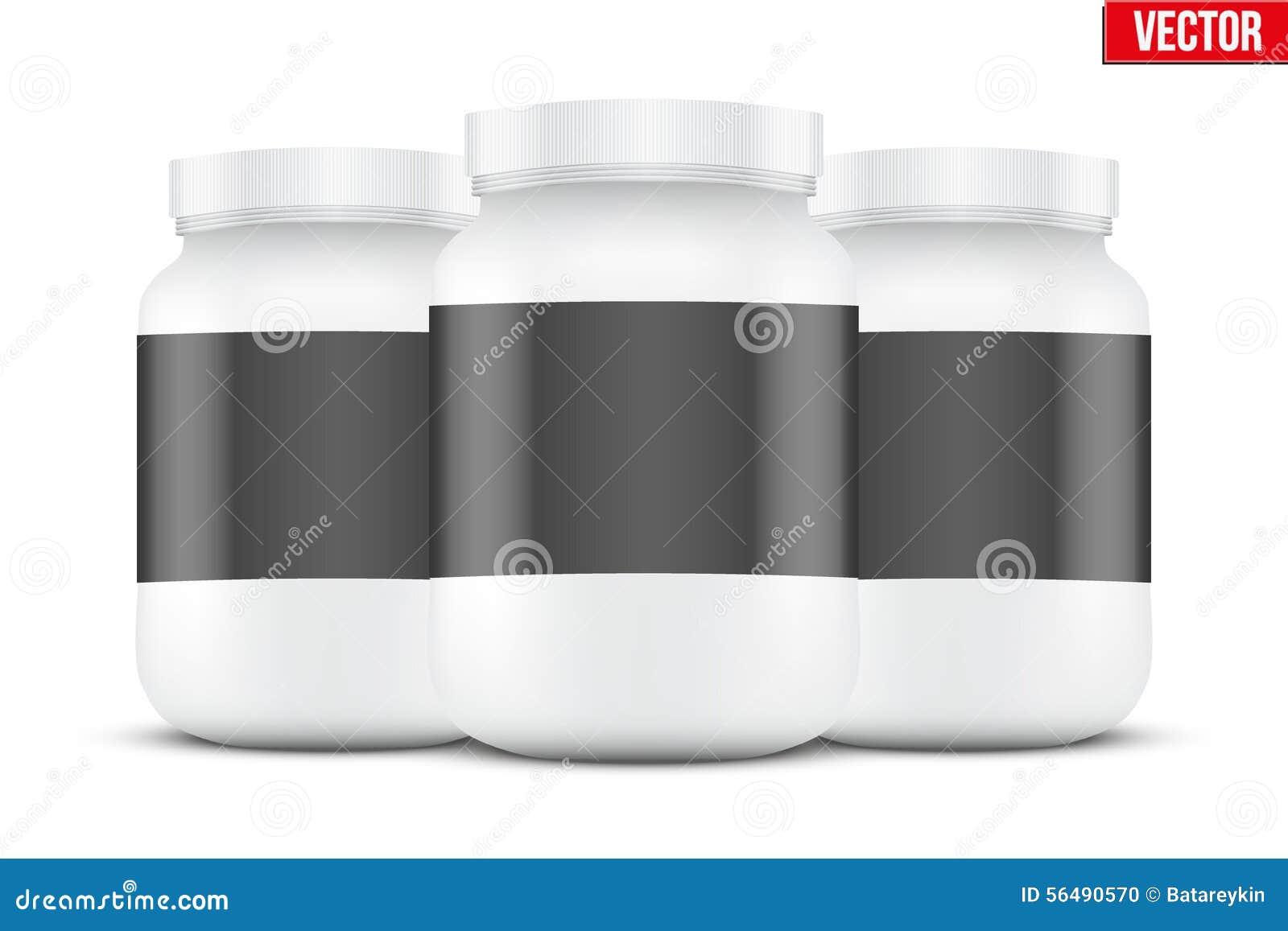 Fond de maquette de récipient de nutrition de sport