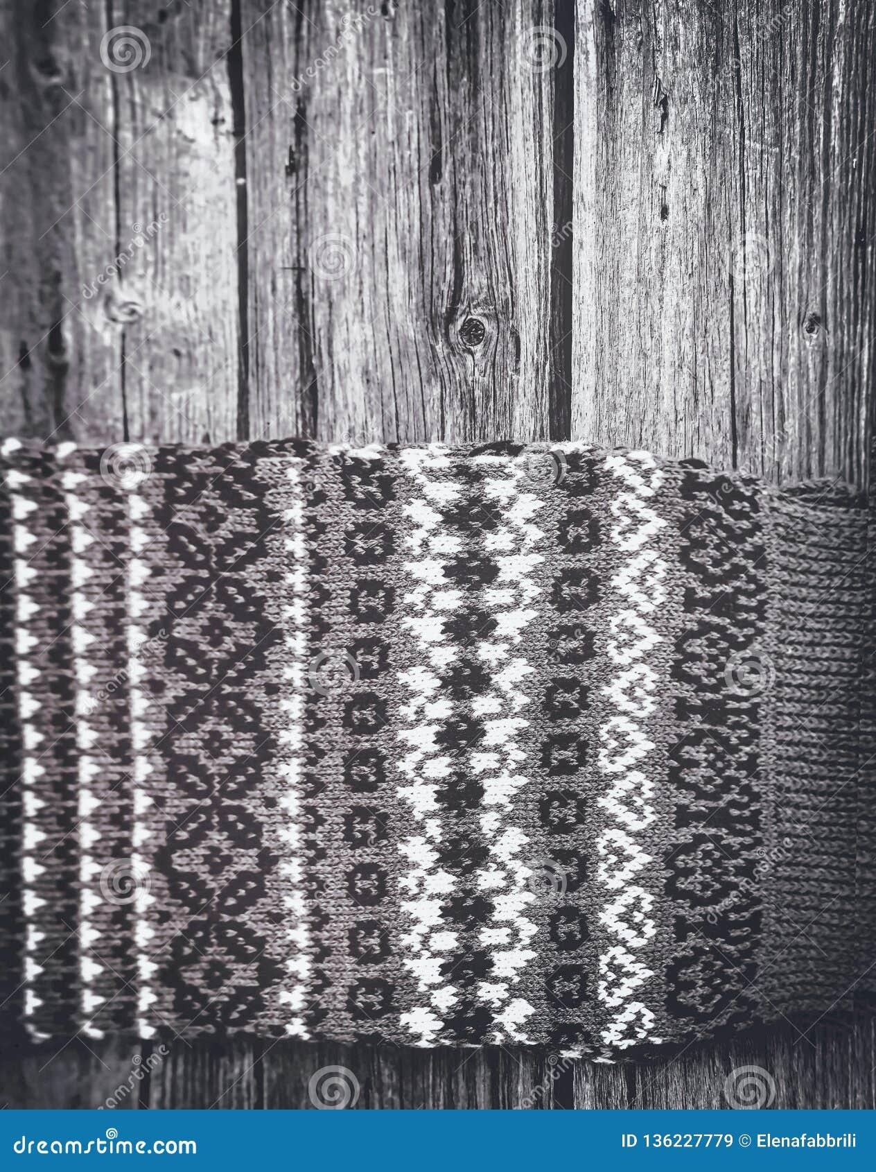 Fond de modèle tricoté par hiver