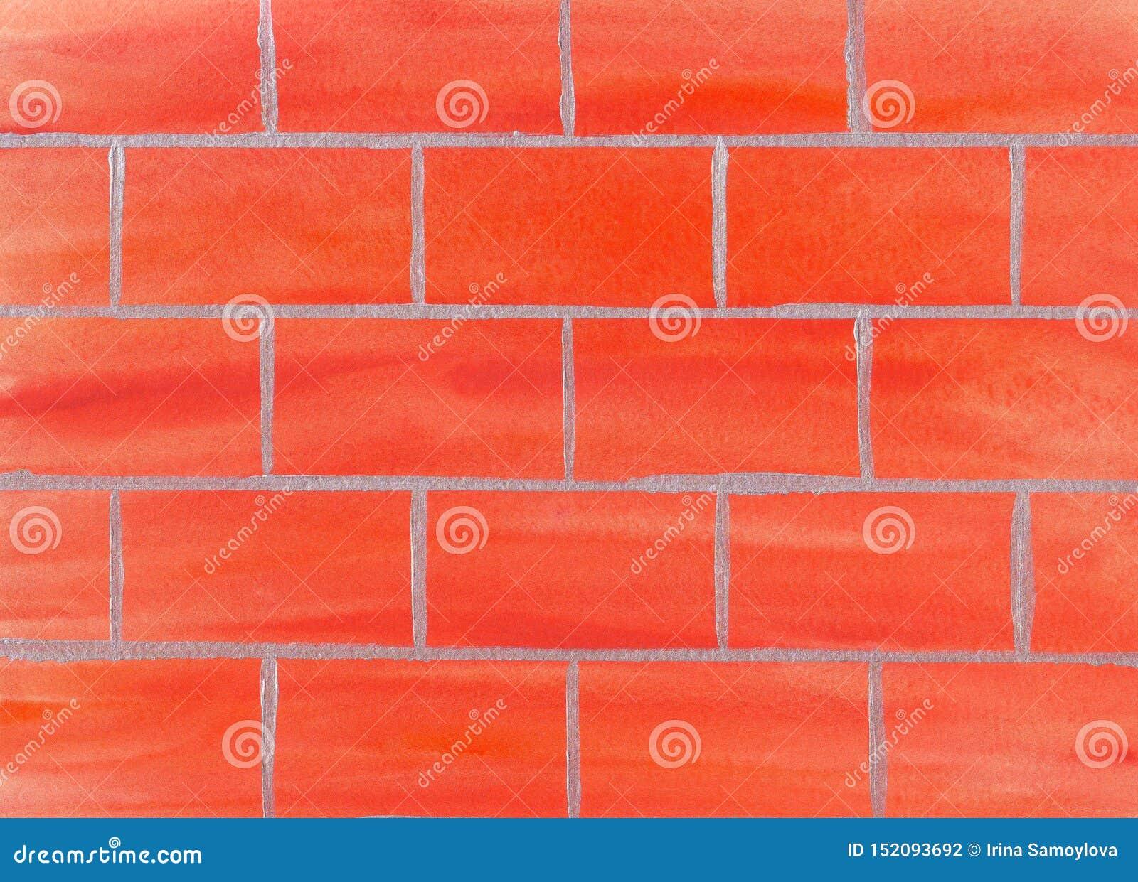 Fond de mur de briques d aquarelle Gratte-ciel montant Le jour du constructeur