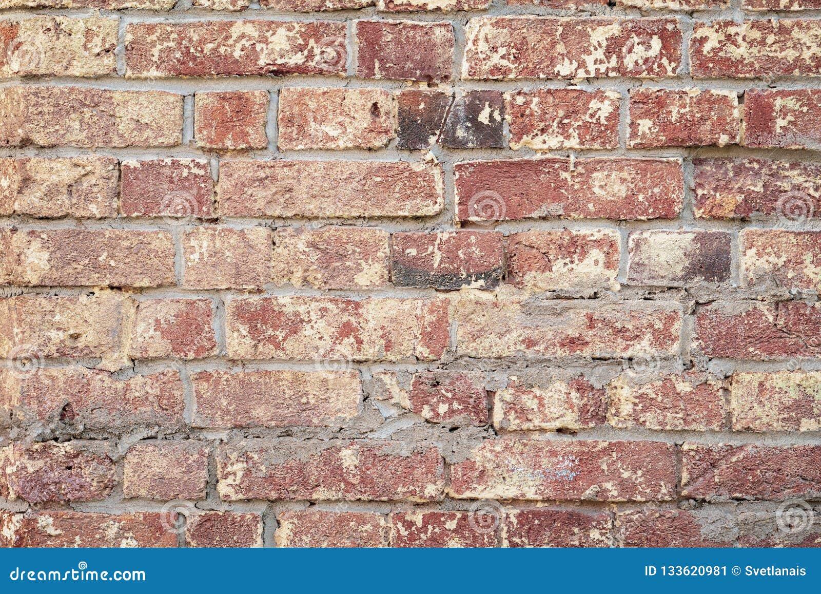 Peinture Pour Brique Extérieur fond de mur de briques rouge de cru, plan rapproché