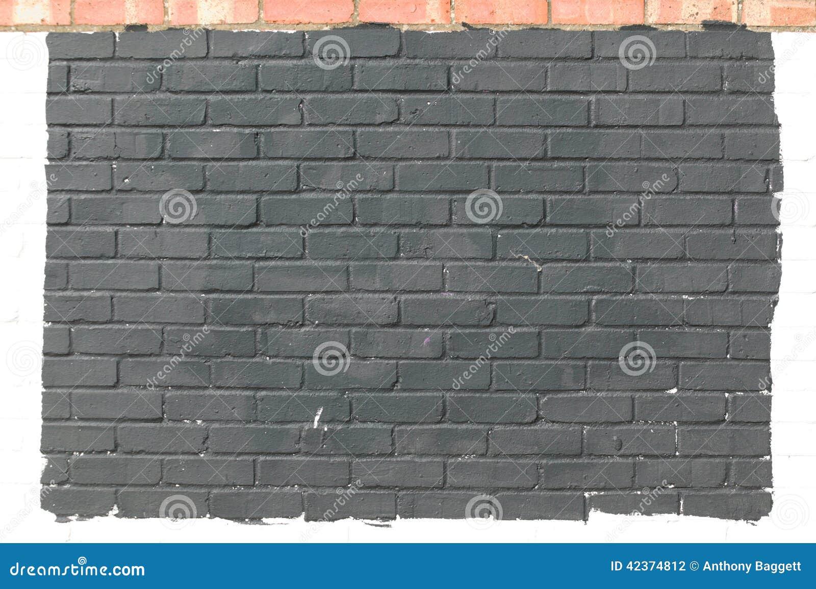 Fond de mur de briques peint par gris photo stock image Mur de brique gris